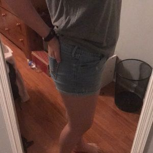 Light Blue Hollister Jean Shorts